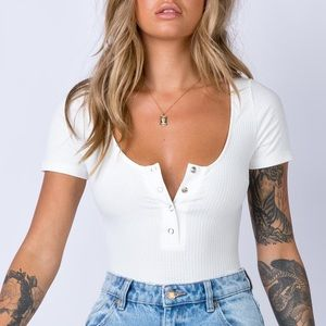 Princess Polly Catch 22 Bodysuit White